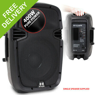"Portable PA DJ Disco Party Active Speaker 10"" Woofer Small High Power 400W"