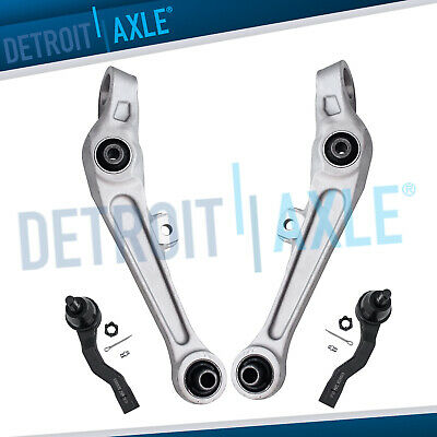 New 4pc: Front Lower Control Arms + Outer Tie Rod Links for Infiniti G35 - RWD