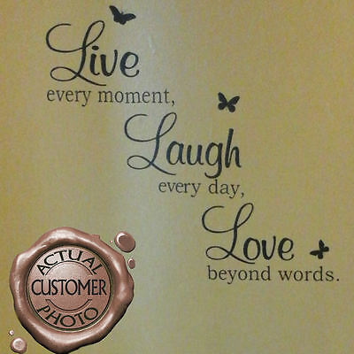 Quote Wall Art Sticker, Live Love Laugh, Home Vinyl Transfers, Decals, Graphics