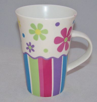 burton+Burton Porcelain Tea or Coffee Mug Gift Set GROOVY GARDEN