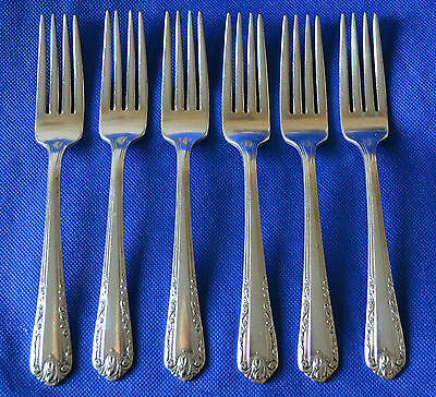 WALLACE BROTHERS 6 x DINNER FORKS SILVER, overlaid silver / silverplate flatware