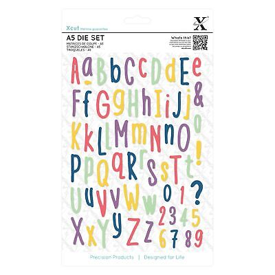 Xcut A5 Folk Alphabet Die Set (66 Pieces) XCU503286