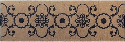 French Elegance Vintage Natural Black Gorgeous - 100% Coir Doormat / Door Mat