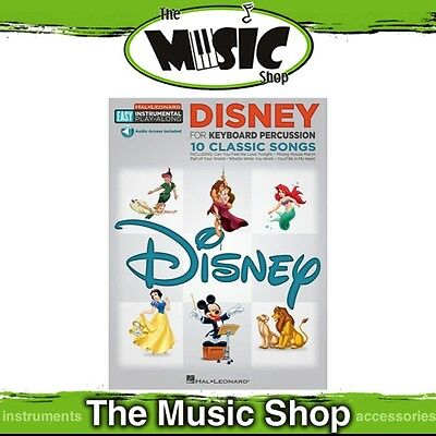 New HL Easy Instrumental Play Along: Disney for Keyboard Percussion Music Book