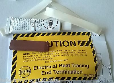Thermon Electrical Heat Tracing End Termination Marker Kit 119-2010  ET-6C