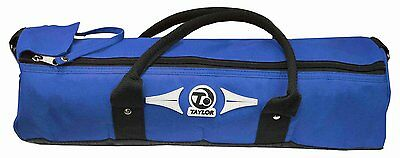 New Taylor Cylinder Bowling Carry Bag Blue / Red Hold 2 or 4 Bowls
