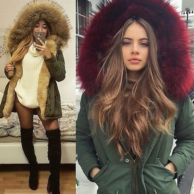 Parka Jacke Blogger Jacke Winter Fell FL7918 Damen Fashion Kunstfell Freshlions