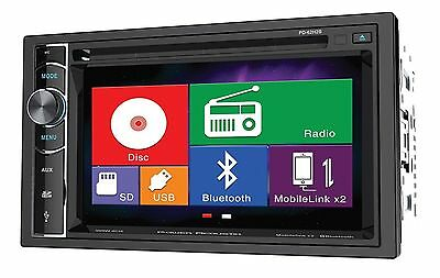 """Power Acoustik PD-62H2B 2 DIN CD/DVD Player 6.2"""" Bluetooth Android MobileLink"""