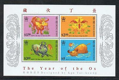 STAMPS  HONG KONG  1997  THE YEAR OF THE OX  Ms.( MNH )  lot 1231