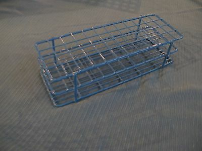 Fisherbrand  Blue Epoxy-Coated Wire 48-Position 16mm Test Tube Rack