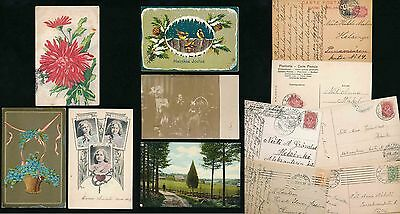 FINLAND EARLY PPCs 1900s to 1910s GREETINGS CHRISTMAS etc...6 ITEMS
