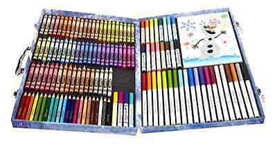 NEW Crayola Frozen Inspiration Art Colored Crayons Markers Pencils Case Set