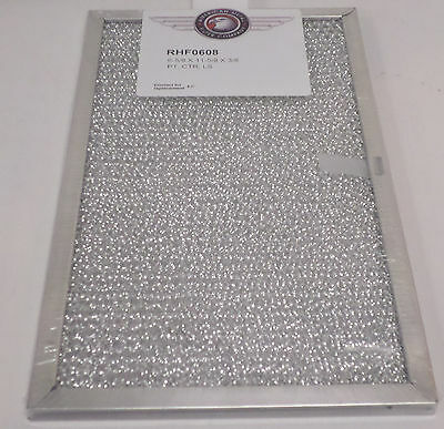 RHF0608 Range Vent Hood Aluminum Filter for Broan and Whirlpool