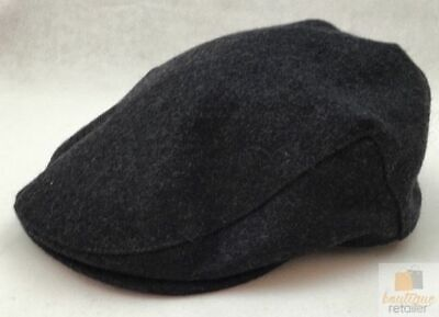 FAILSWORTH Melton Cap Charcoal Wool Grey Made in UK Classic Hat NEWSBOY New