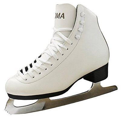 New Concept Roma Ice Figure Recreational Skates White Leather Girls Womens