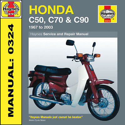 Honda C50 C70 C90 Stepthru 1967-2003 Haynes Manual 0324 NEW
