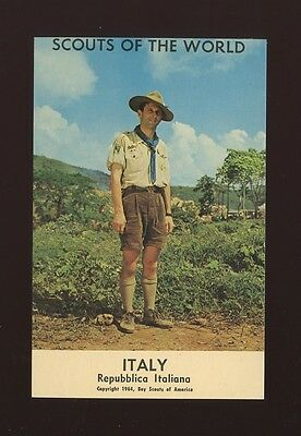 Italy SCOUTS of the World Repubblica Italiana 1964 PPC by Boy Scouts of America