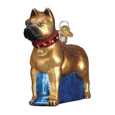 """Staffordshire Terrier"" (12438) Old World Christmas Glass Ornament"