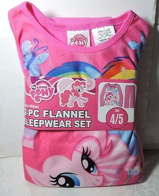 Newest New Girls MY LITTLE PONY 2 piece Flannel Pajamas Sleepwear Set Size 4/5