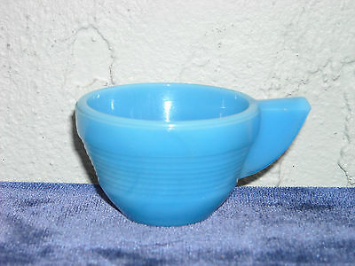 Akro Agate Small Concentric Ring Cup  Opaque Blue