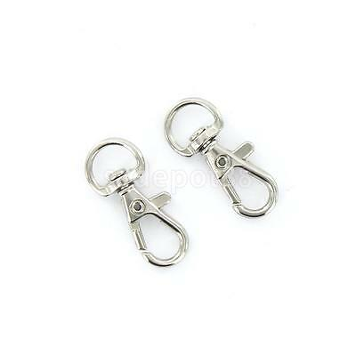 10 Swivel Trigger Clips Snap Hooks Clasps Keychain Bag Dog Leash Craft 10mm