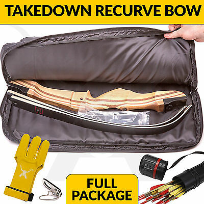 Wooden Takedown Recurve Bow Package By Apex Hunting Archery Set