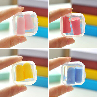 5 Pairs Anti Noise Soft Foam Ear Plugs Earplugs Foam Reduce Noise Ear Protect