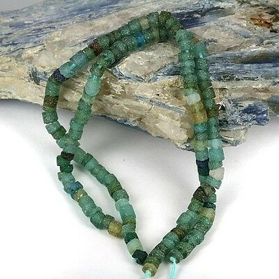 Recovered & Reworked Ancient World Glass Bead Strand - Petite 3mm Heishi Shape