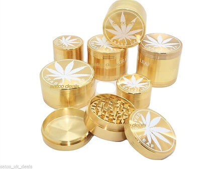 3 Part 4 Part Aluminium Herb Tobacco Grinder Crusher Mull Pollinator Metal NEW