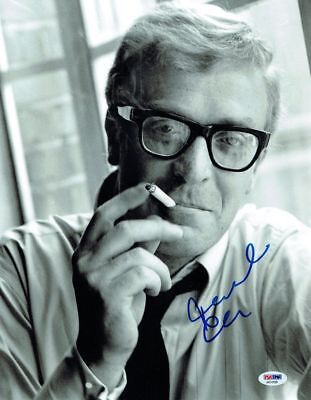 Michael Caine Signed Authentic Autographed 11x14 Photo PSA/DNA #AA31599