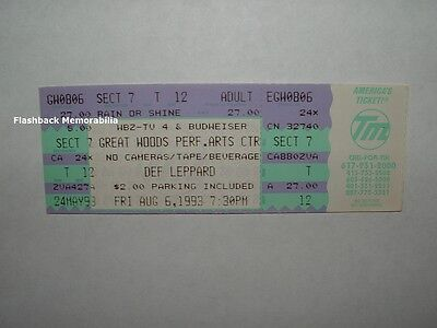 DEF LEPPARD Unused 1993 Concert Ticket GREAT WOODS PAC Mansfield MA VERY RARE