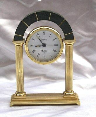 Magnificent French Quartz Jagard Alarm Table Clock