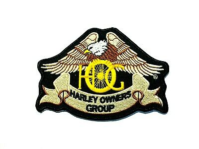New Harley Owners Group HOG Biker Embroidered Cloth Patch Badge Iron Sew On