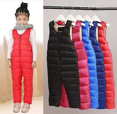 Children Down Pants Rompers  Kids' Warm Jumpsuits For Girls & Boys 5 Colors