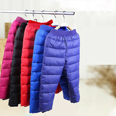Winter Thermal Chidren Down Pants Down Trousers For Kids,Girls&Boys  5 Colors