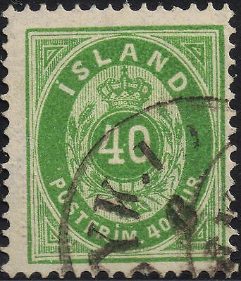 Iceland 1876 40a sg 19 used