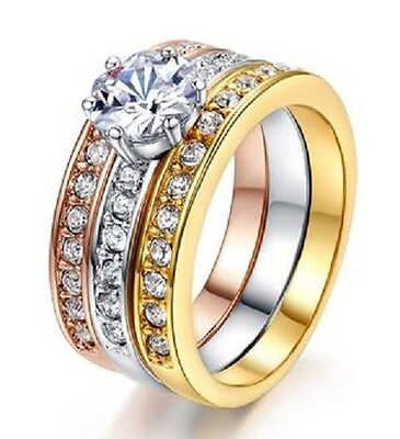 18K GOLD EP 3.06CT DIAMOND SIMULATED ENGAGEMENT RING size 5-11 u choose the size