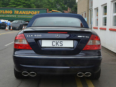 W209 CLK CLK200 CLK220 CLK320 CLK350 CLK500 CLK550 Sport Exhaust Quad Tailpipe