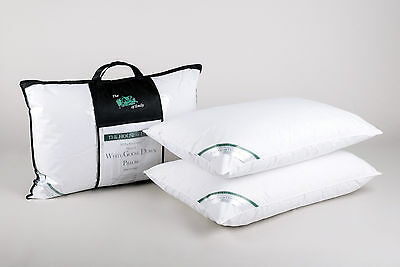 Pair of Luxury Standard Size Pillows 100% Premium Hungarian White Goose Down