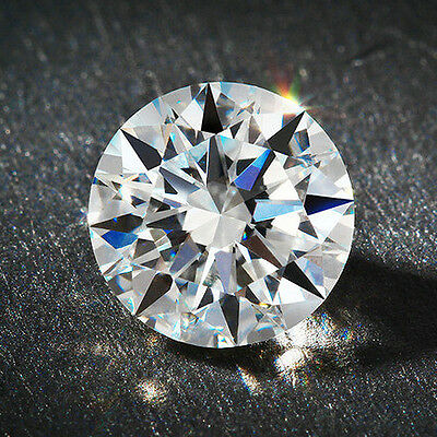 1.00ct VVS1-G Round Lab Created Moissanite 6.5mm Genuine Loose Moissanite Stone