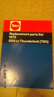 Bsa Parts List 1973 650Cc Thunderbolt T65 [3-32]