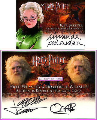 Rita Skeeter Weasley Twins Goblet of Fire Autograph Trading Card Harry Potter