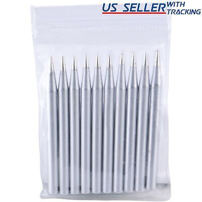 Delcast 10x Lead-free Replacement Pencil Soldering Tip Solder Iron Tips 60W