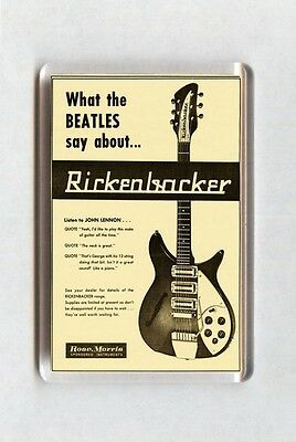 Vintage Music Advert Fridge Magnet - Rickenbacker Guitars, Beatles