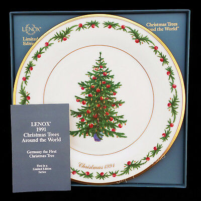 Lenox Christmas Trees Around the World Plate GERMANY 1991 is First in Series MIB