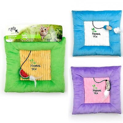 AFP All For Paws Catnip Cat Kitten Grass Fun Mat Toy Play Game Pillow