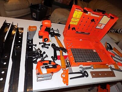 HUGH LOT PRETEND PLAY HOME DEPOT TOOL SET  carry put together tool bench loaded