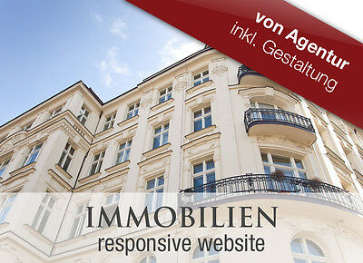NEU professionelle ImmobilienWebsite Immobilien Software