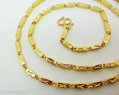 24K THAI YELLOW GOLD GP Filled NECKLACE 24 inch 21 Gram Jewellery Jewelry