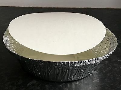 100 Round Silver Aluminium Foil Containers & Lids Size12 Takeaway Indian Chinese
